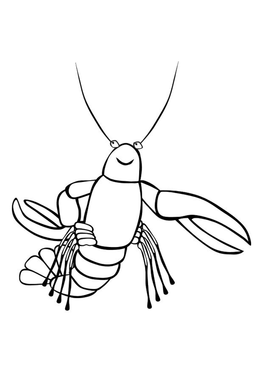 Coloring page lobster