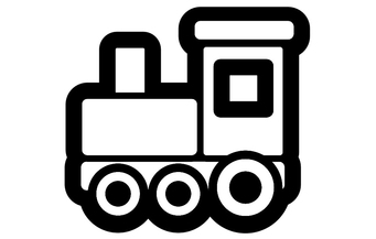 Coloring page locomotive
