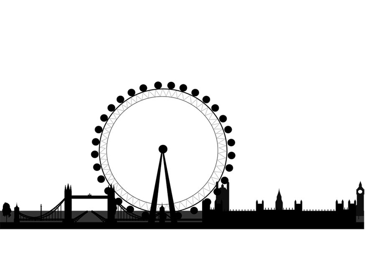 Coloring page London skyline
