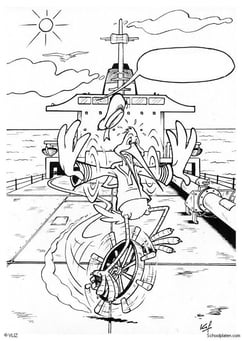 Coloring page loosing the helm