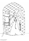 Coloring page lord and lady