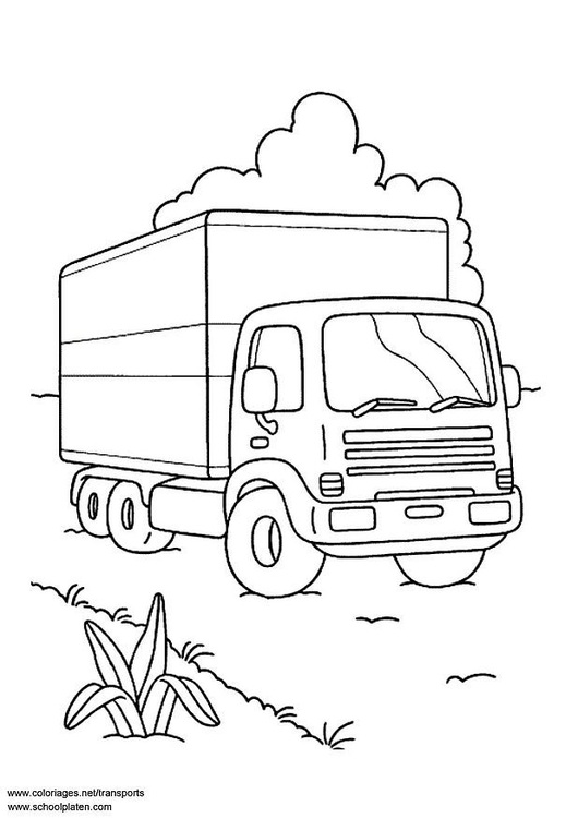 Coloring page lorry