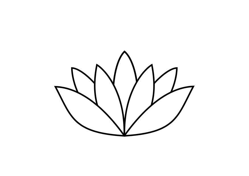 Coloring page lotus flower img 10467 download large image mightylinksfo