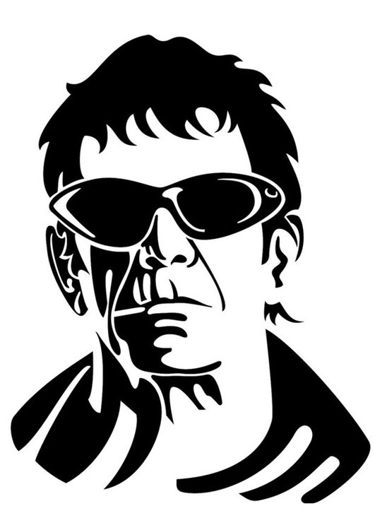 Coloring page Lou Reed