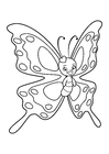 Coloring page lovely butterfly