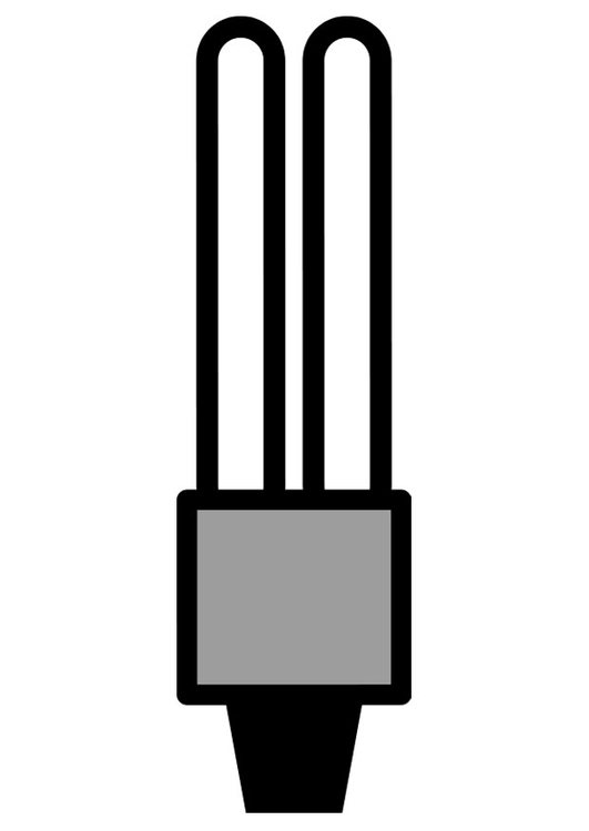 Coloring page low energy light bulb