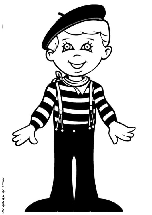 Coloring page Luc from France