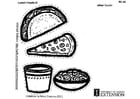 Coloring pages Lunch Foods B