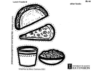 Coloring page Lunch Foods B