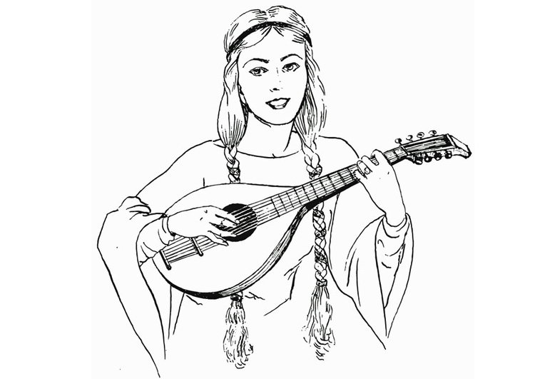 Coloring page Lute