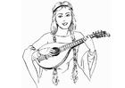 Coloring pages Lute