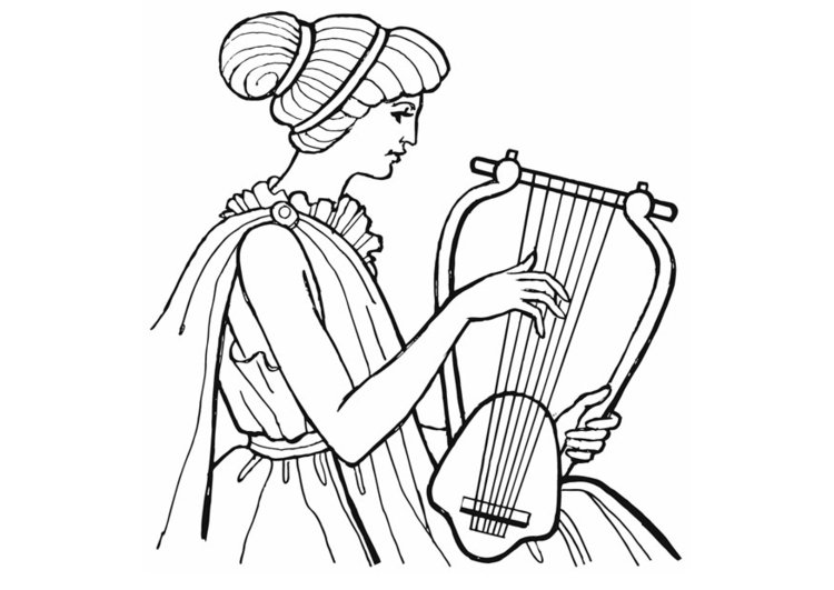Coloring page Lyre