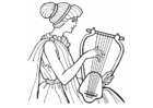 Coloring pages Lyre