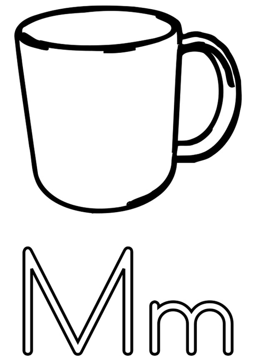 Coloring page m