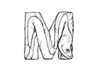 Coloring page m-moray