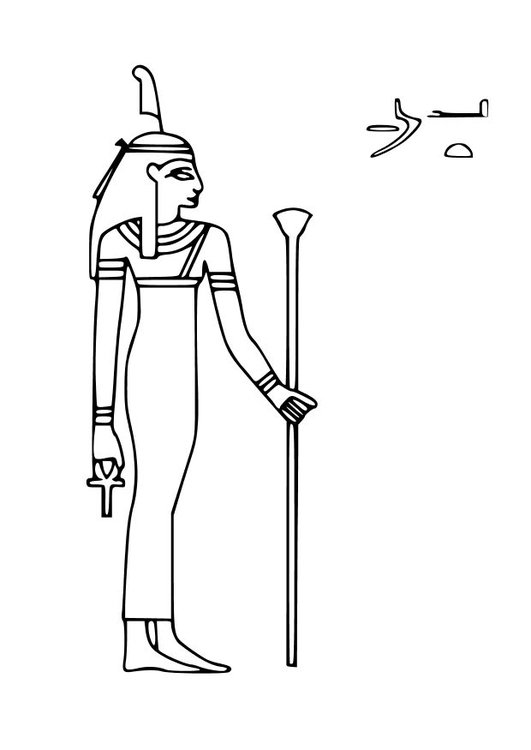Coloring page Maat