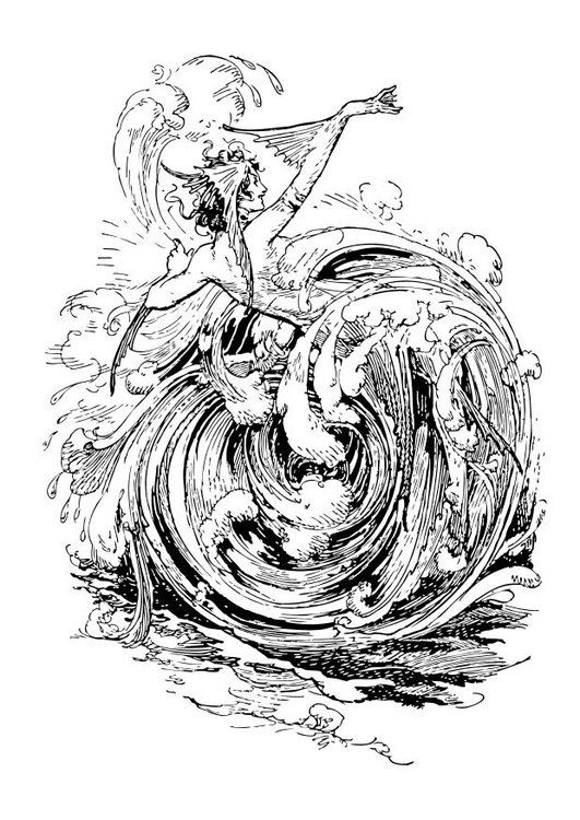 Coloring page maelstrom