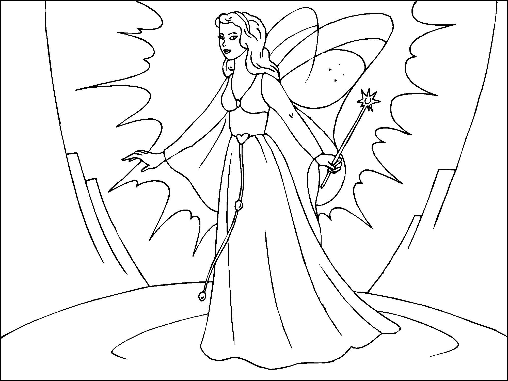Coloring Page Magic Fairy Img 22818
