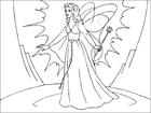Coloring pages magic fairy