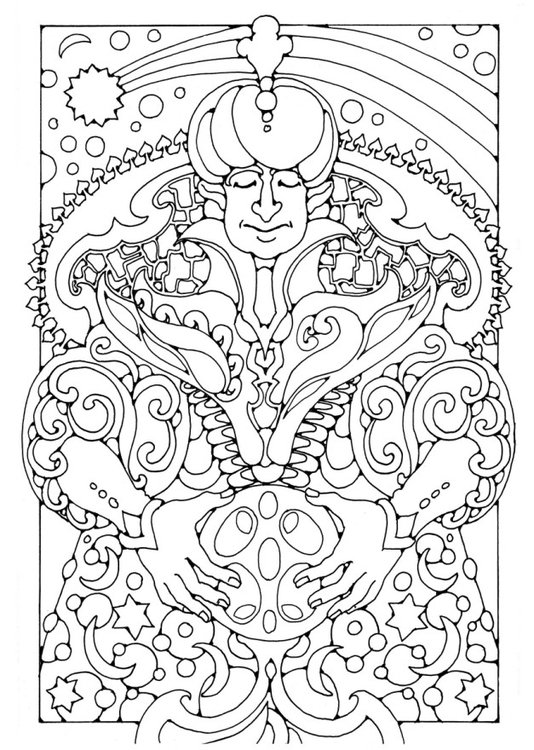 Coloring page Magician