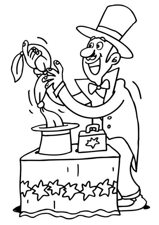 This is an image of Crafty Magician Coloring Pages