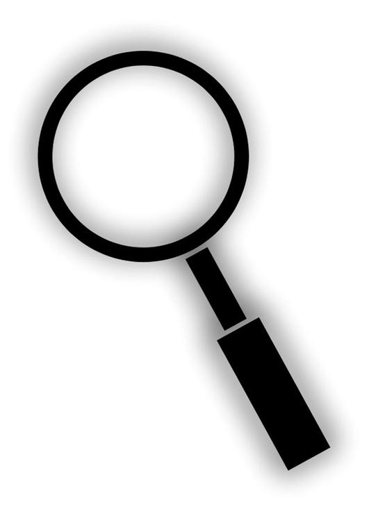 Coloring page magnifying glass