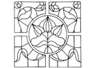 Coloring pages Magnifying Glass with flower design
