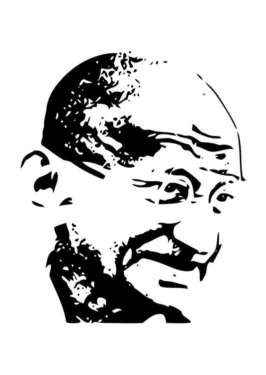 Coloring Page Mahatma Gandhi - free printable coloring pages
