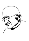 Coloring pages Mahatma Gandhi