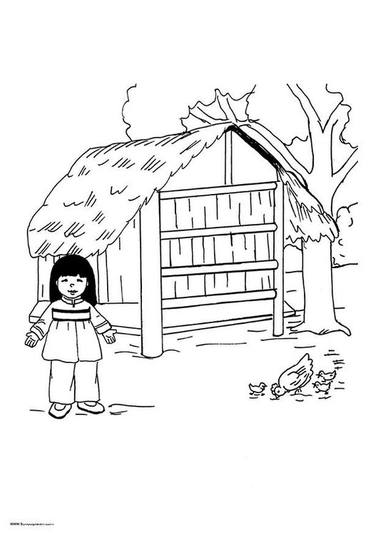Coloring page Mai picture 12