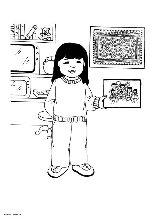 Coloring page Mai picture 13
