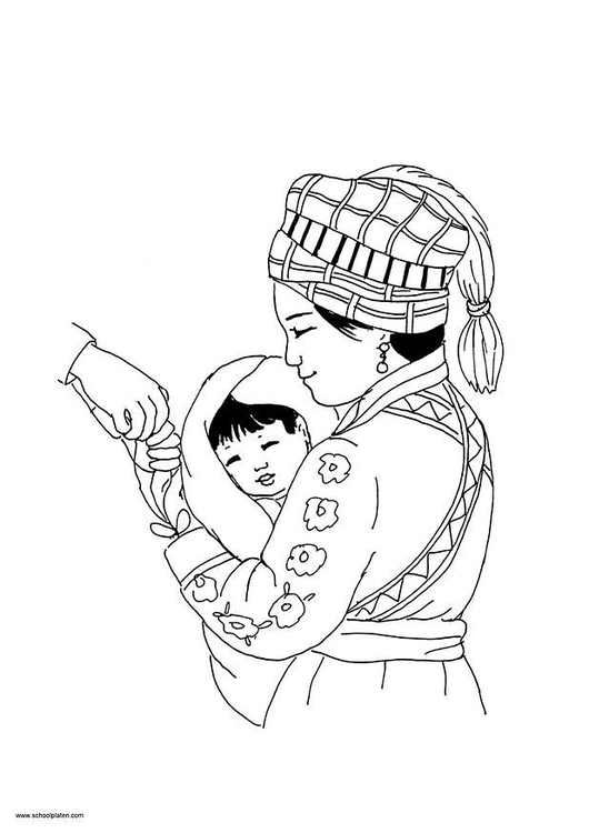 Coloring page Mai picture 7