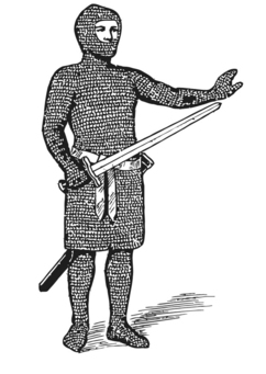Coloring page mail (armour)