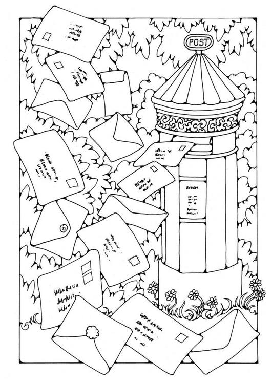 mailbox coloring pages for kids | Coloring page Mailbox - img 19603.