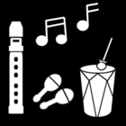 Coloring page make music