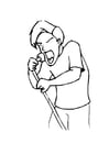 Coloring pages male singer