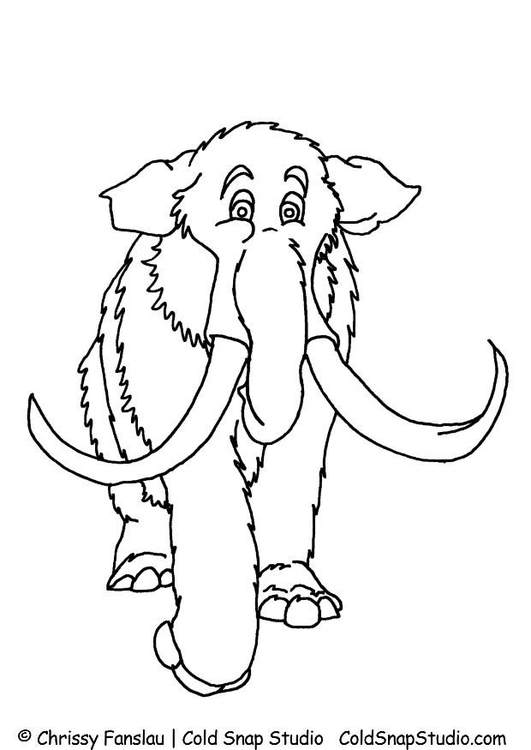 Wooly Mammoth coloring page | Free Printable Coloring Pages | 750x531