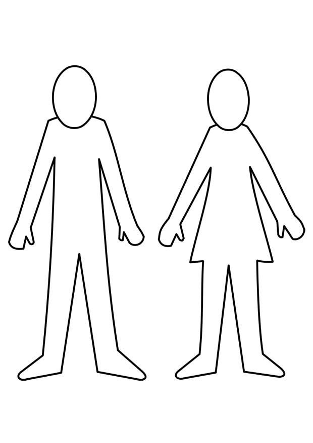 Coloring page man and woman img