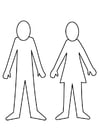 Coloring page man and woman