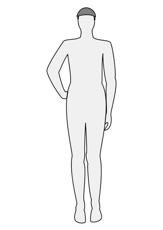 Coloring page man front