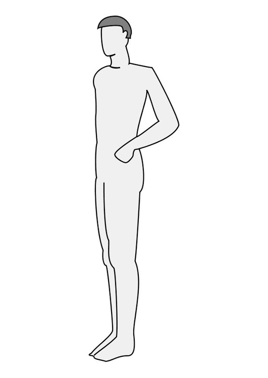 Coloring page man profile