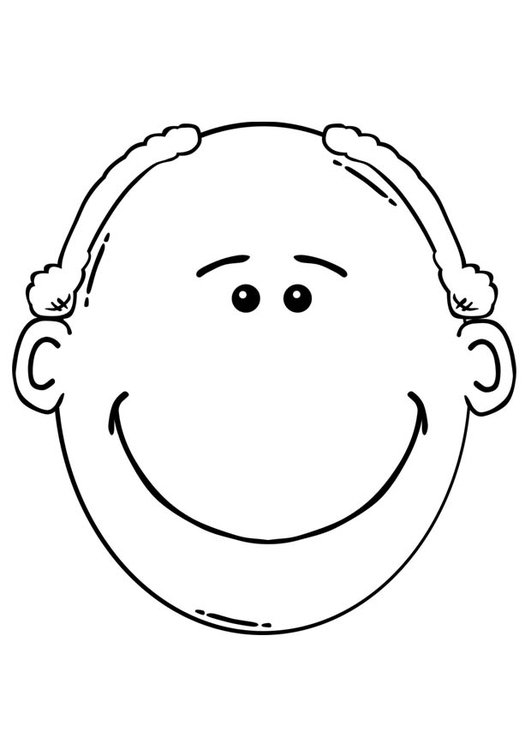 Coloring page man's face
