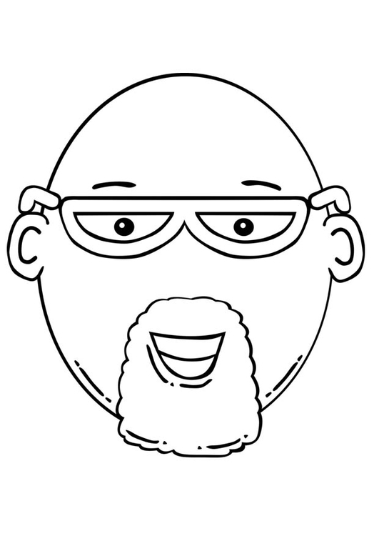 man face coloring pages - photo#11