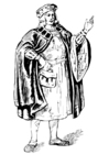 Coloring pages man with cloak
