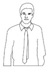 Coloring pages man with tie