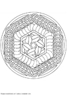 Coloring pages mandala-1402a