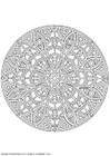 Coloring pages mandala-1402c