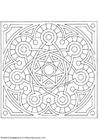 Coloring page mandala 1502b