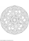 Coloring pages mandala-1502c