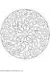Coloring page mandala-1502d